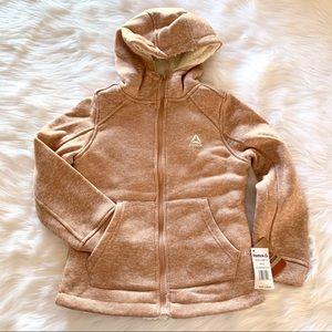 Reebok little girls' blush pink hoodie jacket
